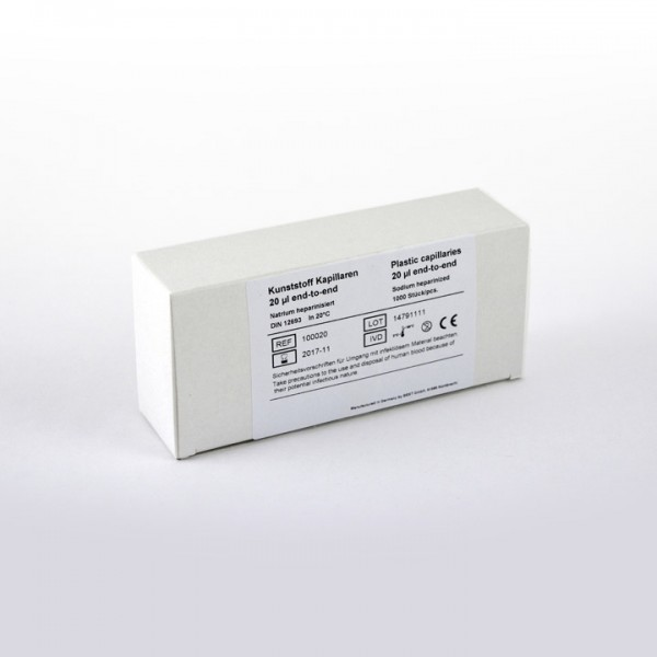 Kunststoff Kapillaren 20 µl
