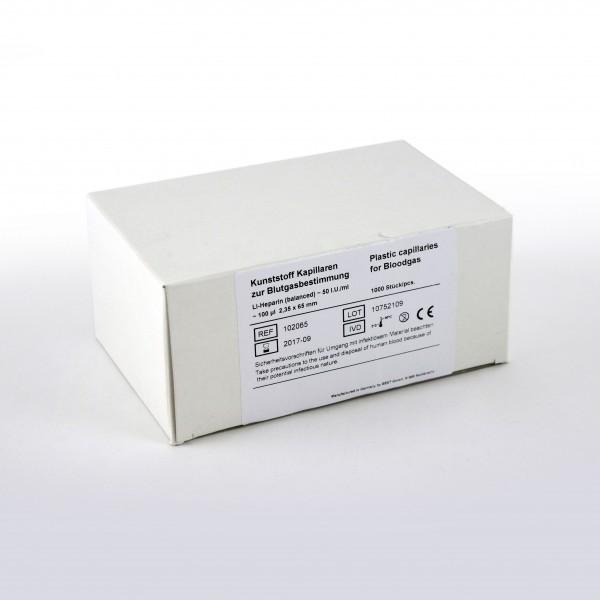 Kunststoff-Blutgaskapillaren 100 µl