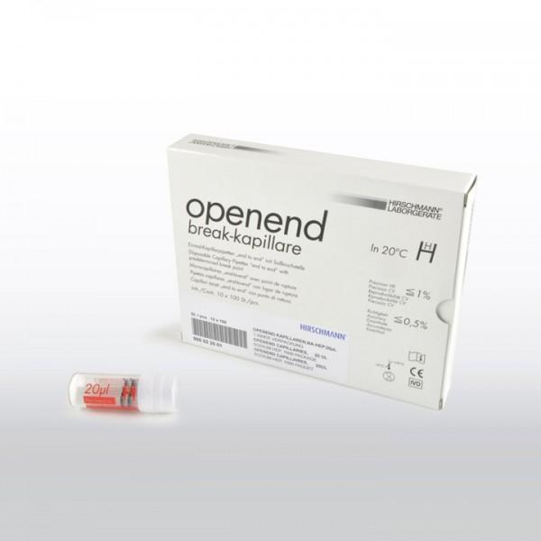 Open-End-Kapillaren 20 µl